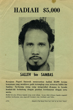 Brunei Revolt leaflet offering a reward of $5000 for the capture of SALLEH bin SAMBAS