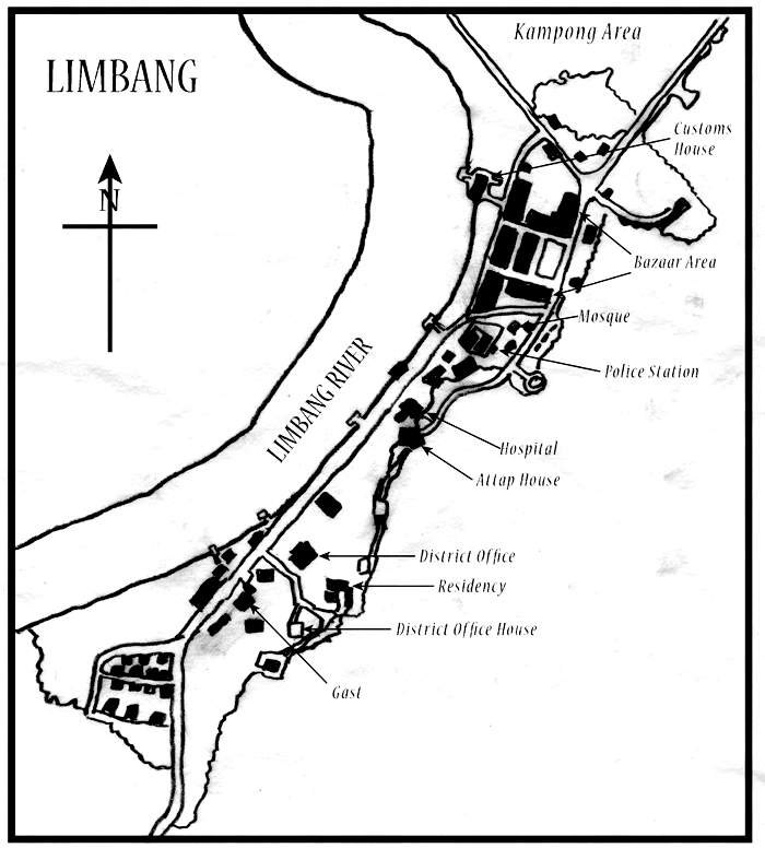 Trace P: Sketch map of Limbang