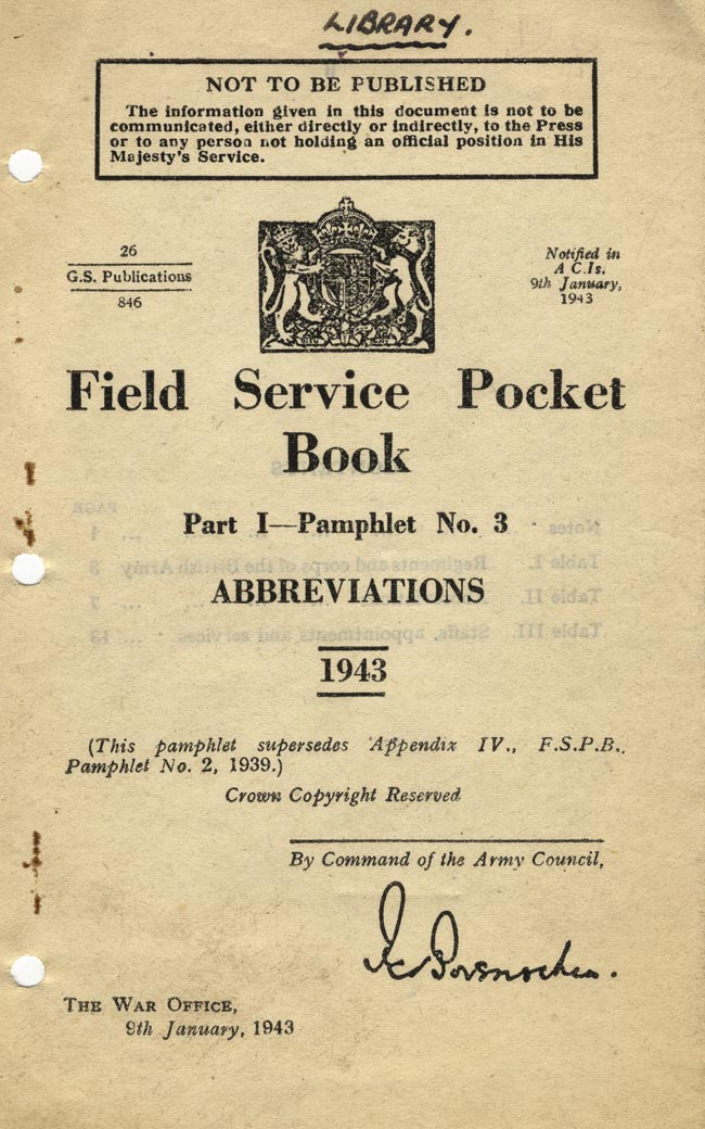Field Service Pocket Book Cover
